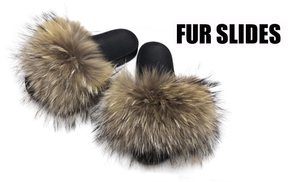 FUR SLIDES & FUR SLIPPERS