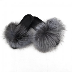 Flash Sale New style raccoon fur slippers