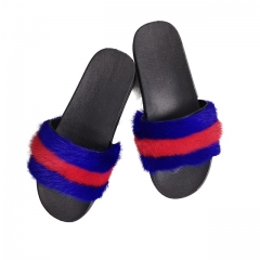 Mink fur slippers,Mink fur slides,Mink fur sandals
