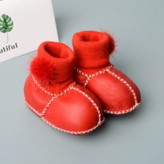Factory sell Infant indoor Crochet winter wear Shoes baby boots
