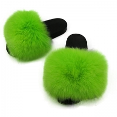 green fox fur slides
