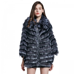 New Fox Fur Shawl Fox Fur Collar bat shirt women's jacket