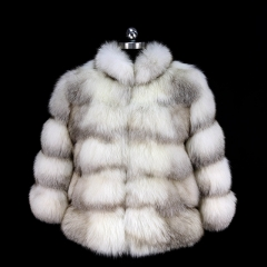 2019 Lady Real Fur Coats Jacket Natural Women Warm Winter Real Fox Fur Coat