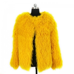 Real Sheep fur coat Mongolian Tibetan Lamb Fur Coat