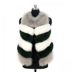 2019 Winter Sweet  Real Fox Fur Vest Real Short Fur Gilet
