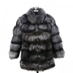Top Sale Manufacturer Jacket Real Fox Fur Coat Long Sleeve Overcoat Winter Warm Coat