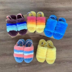 Flash Sale New UCC Pride Collection Fluff Yeah Slide in pride rainbow yellow Wool slippers
