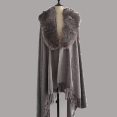 Factory Wholesale Fur Shawl Fashion Fur Cape Shawls