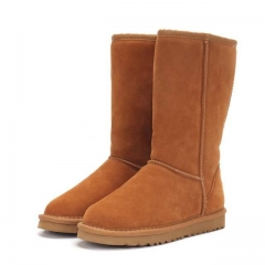 2020 Autumn Winter Cashmere Snow Girls Boots Leather Women comfortable women's boots