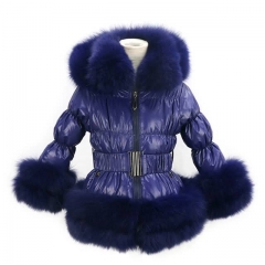 2021 New Fashion Puffer Jacket Down Coat With Fox Fur Trim For Women